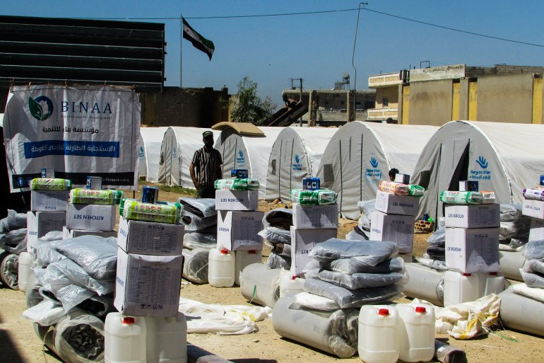 BINAA continues emergency respond for Ghuta IDPs in Idlib and Aleppo